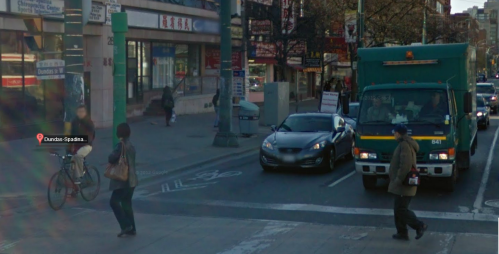 Google Streetview of intersection